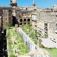 Roof Garden Design at the Valletta Design Cluster